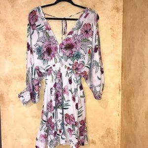 Small Lovestitch Boho Flower Long Sleeve Dress